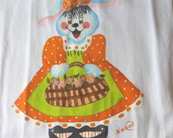 Pano de Prato Coelha de vestido
