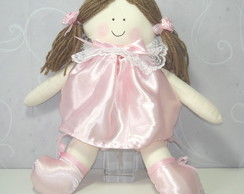 Boneca Rosa Cetim 01