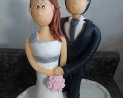 Topo De Bolo Casamento De Biscuit