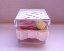 Caixinha de Acr�lico Rosa - P�scoa