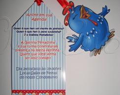 Convite Galinha Pintadinha Marca Paginas