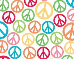 Papel para Scrapbook S�mbolo Paz e Amor