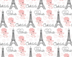 Papel para Scrapbook Torre Eiffel Paris