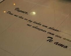 Frase p/ Ch�o do Sal�o (120x20cm)