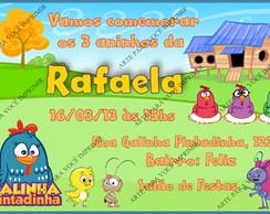 Arte de Convite Galinha Pintadinha.