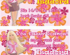 Barbie Convite Anivers�rio