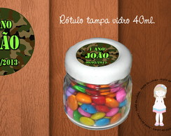 R�tulo tampa pote 40ml