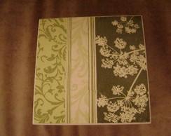 Caixa Biju Verde c/ aneleira e bandeja