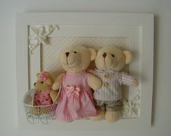 (MA 0138a)Quadro maternidade fam�lia urso