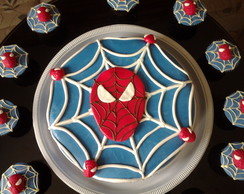 Bolo  Pasta Americana homem aranha