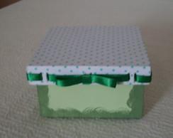 Caixa po� verde com passa fita verde