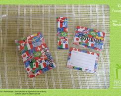 Kit Passaporte - Bandeiras