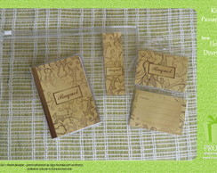 Kit Passaporte - Flor Dourada