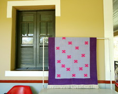 Tapete Floral - roxo + lil�s