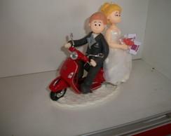Topo de bolo moto
