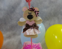 Ursinha rosa e marron com 10
