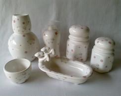 Kit Porcelana - Ovelhinha Rosa