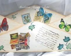 Porta Correspond�ncia Borboletas Envelop