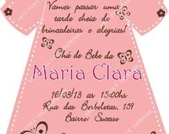 Arte de Convite Maria Clara