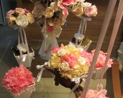 Conjunto flores secas para festas VIII