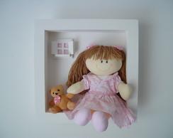 (MA 0133) Quadro maternidade boneca