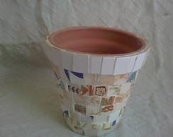 Vaso de Planta Azulejo Quadrado Tam M