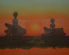 Pintura  Baianas - Por do Sol