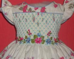 Belissimo vestido floral azul