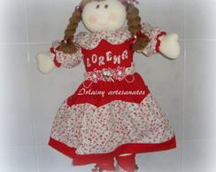 Boneca Porta Fraldas Lorena vermelha