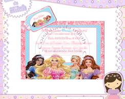 Convite Barbie + Tag
