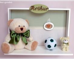 Quadro Quarto De Urso Com Bola - Verde