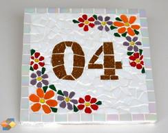 Placa N�mero De Casa Mosaico