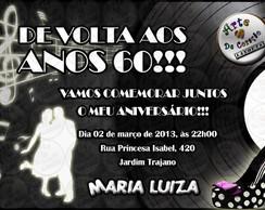 "Convite ""Anos 60"""
