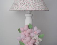 (AJA 0086) Abajur proven�al flores