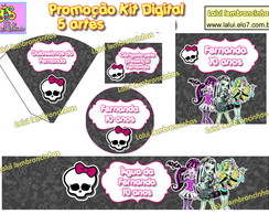 Kit Festa Digital - Monster High