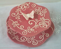 Prato de doces borboleta