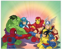 Painel Marvel Super Hero