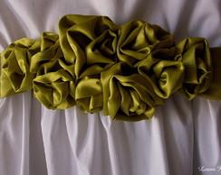 Vestido de daminha com faixa de cetim