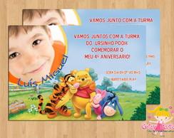 Convite Ursinho Pooh com foto