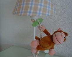 (AJO 0072a) Abajur macaco na corda