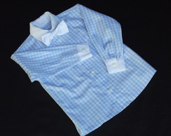 Camisa Manga Longa Xadrez Azul Beb�