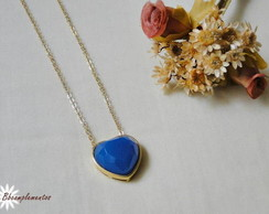 COLAR DIAMANTE AZUL