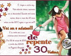 """Convite """"De Repente 30"""""""