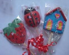 Pirulitos de chocolate para presentear
