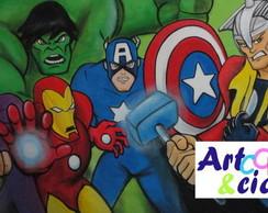 Painel Vingadores Avengers