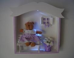 (MA 0131) Quadro maternidade ursa c/LED