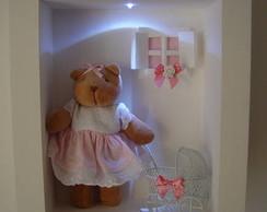 (MA 0127) Quadro maternidade ursa c/LED