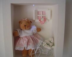 (MA 0126) Quadro maternidade ursa c/LED