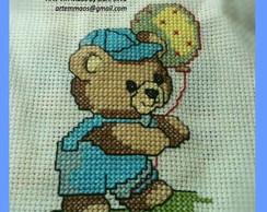 Bordado Urso com bal�o