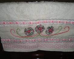 Toalha de M�o - Rosa Estampado